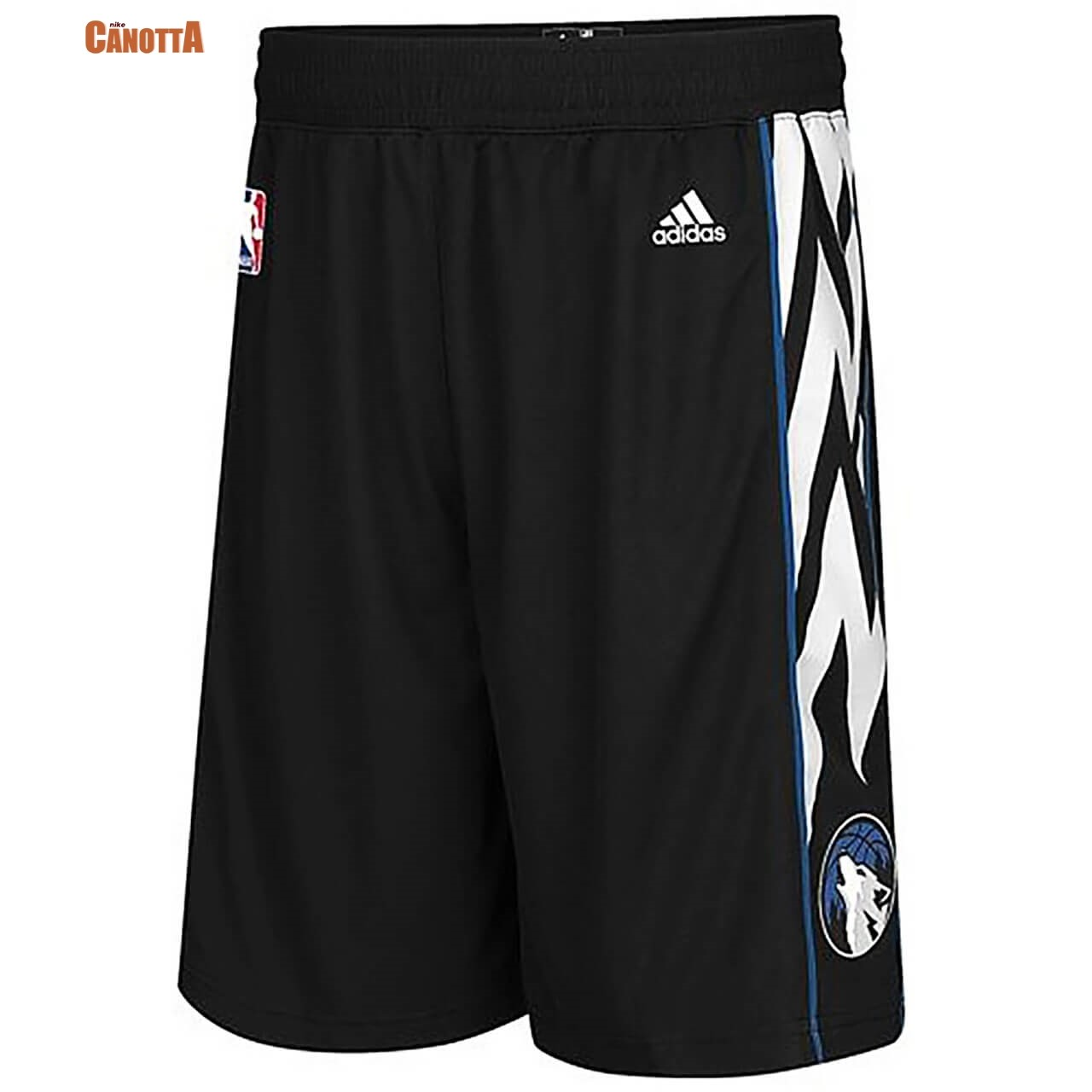 Replica Pantaloni Basket Minnesota Timberwolves Lights out Nero 2020