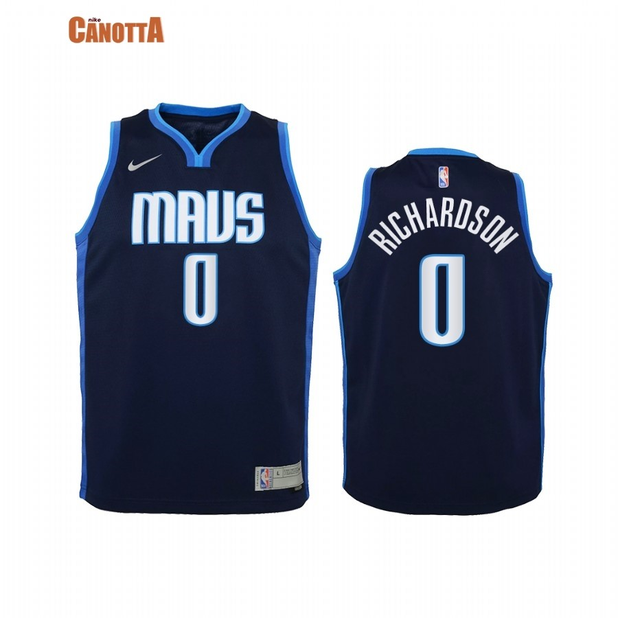 Replica Maglia NBA Bambino Earned Edition Dallas Mavericks NO.0 Josh Richardson Marino 2021