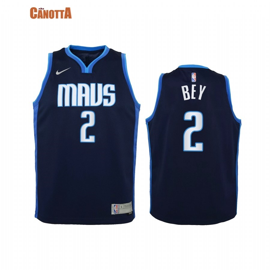 Replica Maglia NBA Bambino Earned Edition Dallas Mavericks NO.2 Tyler Bey Marino 2021