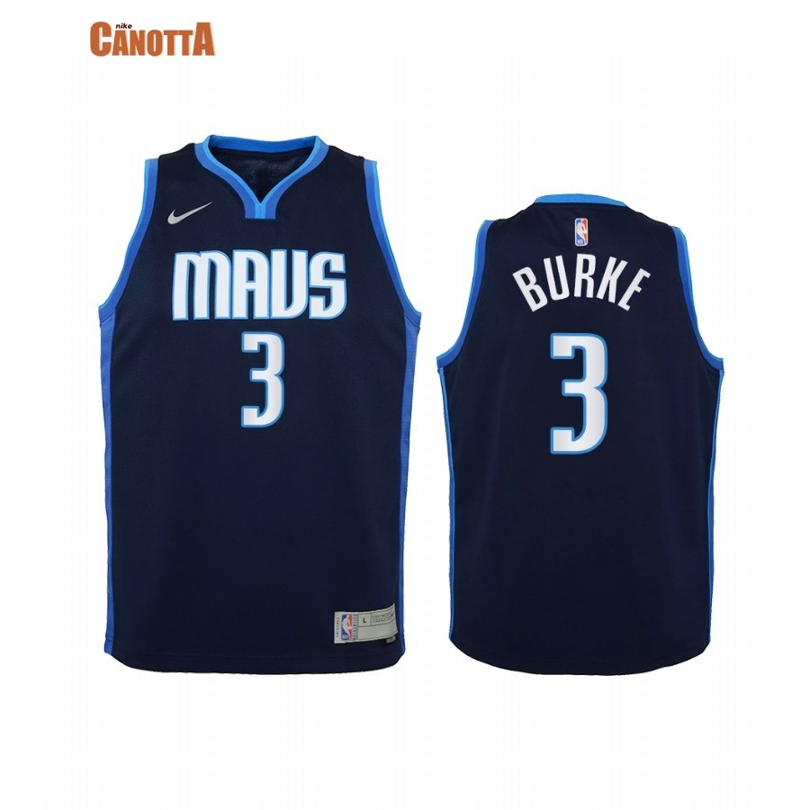 Replica Maglia NBA Bambino Earned Edition Dallas Mavericks NO.3 Trey Burke Marino 2021
