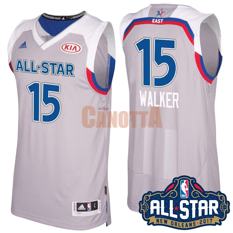 Replica Maglia NBA 2017 All Star NO.15 kemba Walker Gray