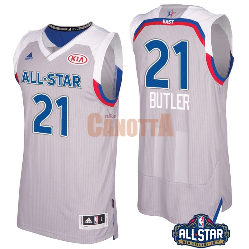 Replica Maglia NBA 2017 All Star NO.21 Jimmy Butler Gray