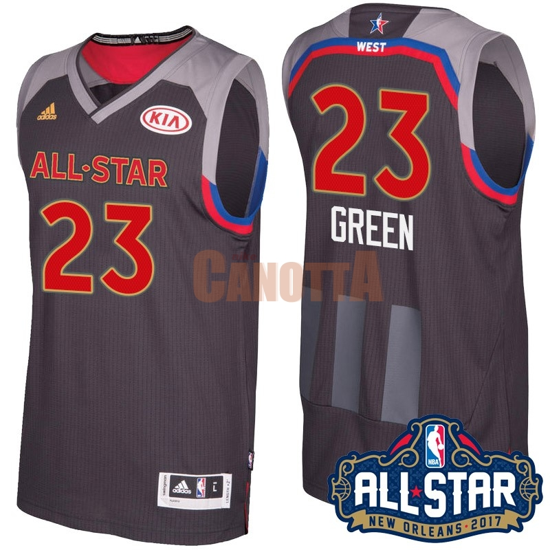 Replica Maglia NBA 2017 All Star NO.23 Draymond Green Carbone