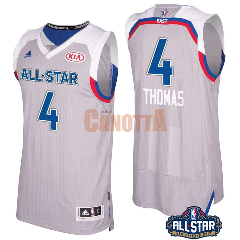 Replica Maglia NBA 2017 All Star NO.4 Isaiah Thomas Gray