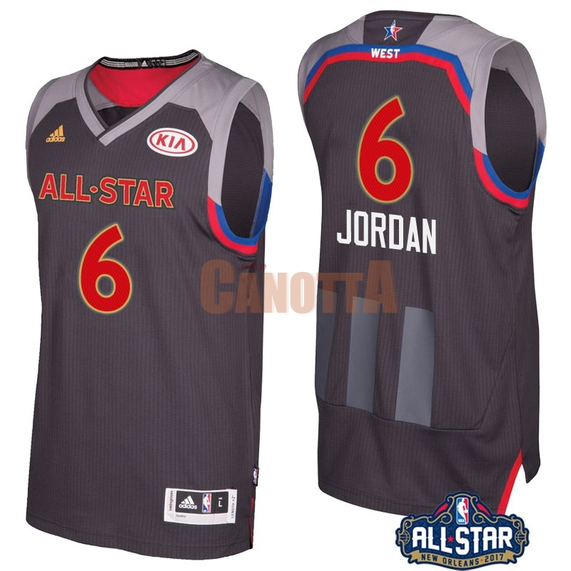 Replica Maglia NBA 2017 All Star NO.6 Deandre Jordan Carbone
