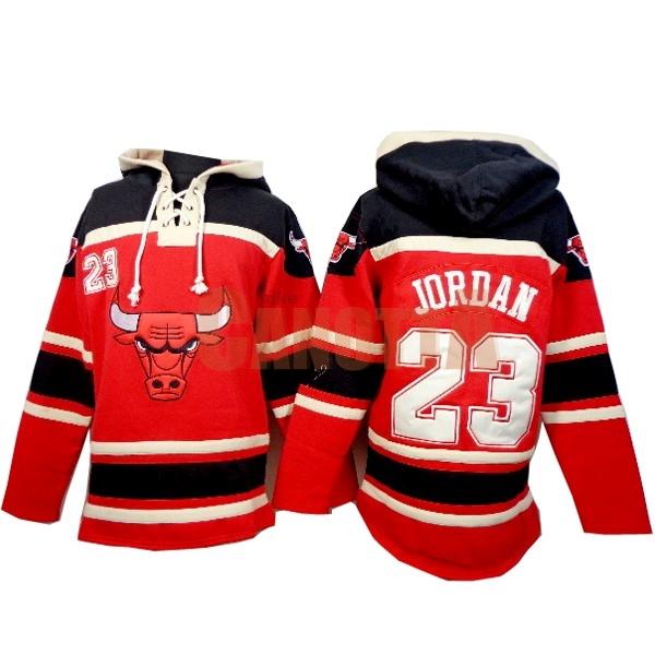 a9f2a9e487f02e Replica Felpe Con Cappuccio NBA Chicago Bulls NO.23 Jordan Rosso ...