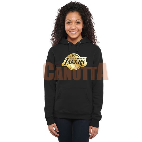 Replica Felpe Con Cappuccio NBA Donna Los Angeles Lakers Nero Or
