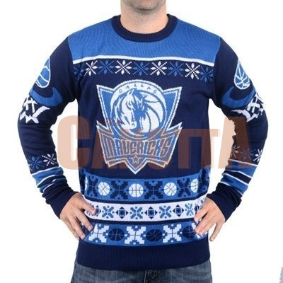 Replica Maglione Ugly Unisex Dallas Mavericks Blu