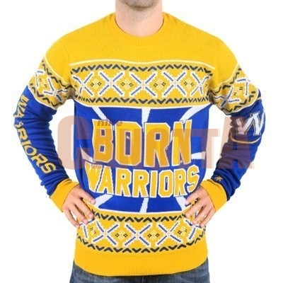 Replica Maglione Ugly Unisex Golden State Warriors Giallo