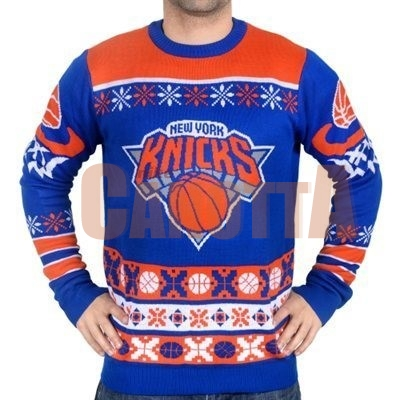 Replica Maglione Ugly Unisex New York Knicks Blu