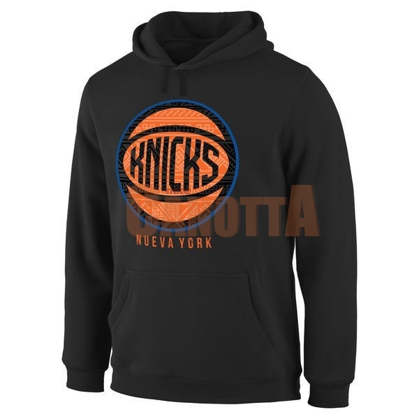 Replica Felpe Con Cappuccio NBA New York Knicks Nero Arancia