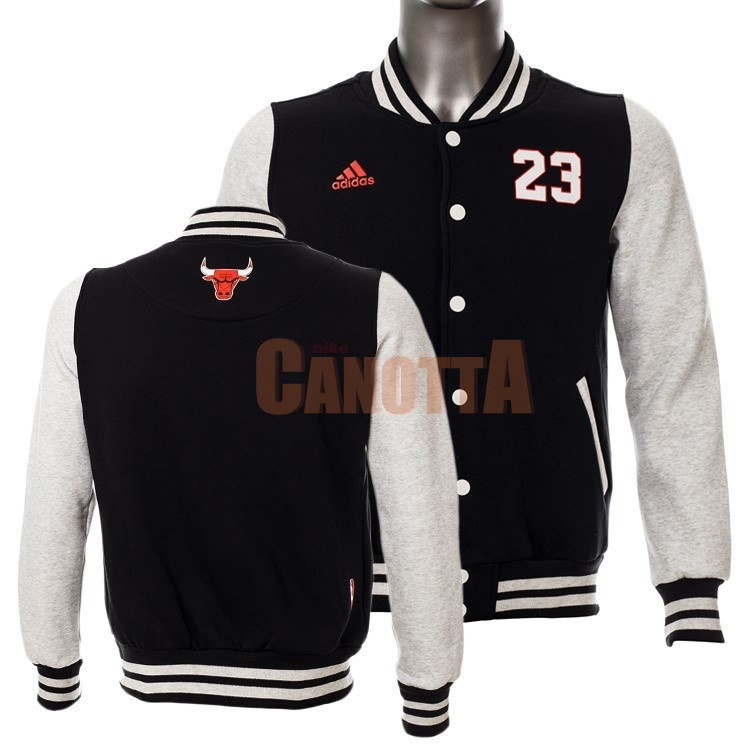 Replica Giacca Di Lana NBA Chicago Bulls NO.23 Michael Jordan Nero