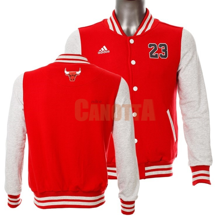Replica Giacca Di Lana NBA Chicago Bulls NO.23 Michael Jordan Rosso