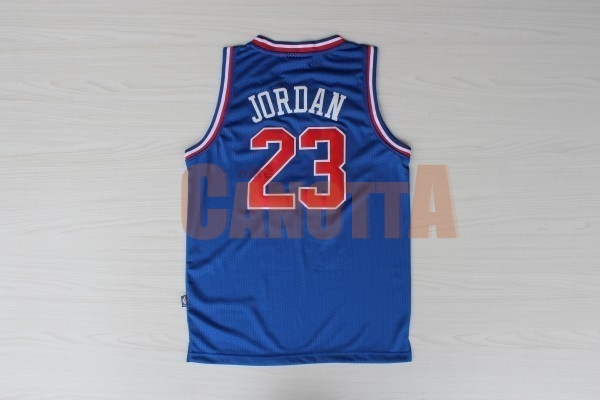 Replica Maglia NBA 1992 All Star NO.23 Michael Jordan Blu