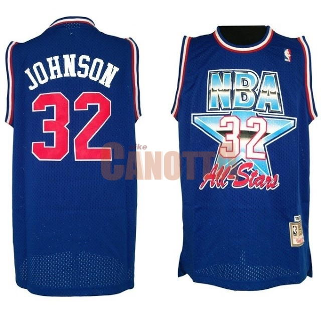 Replica Maglia NBA 1992 All Star NO.32 Joe Johnson Blu