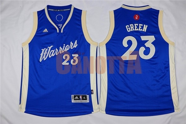 Replica Maglia NBA Bambino 2015 Natale Golden State Warriors NO.23 Draymond Green Blu