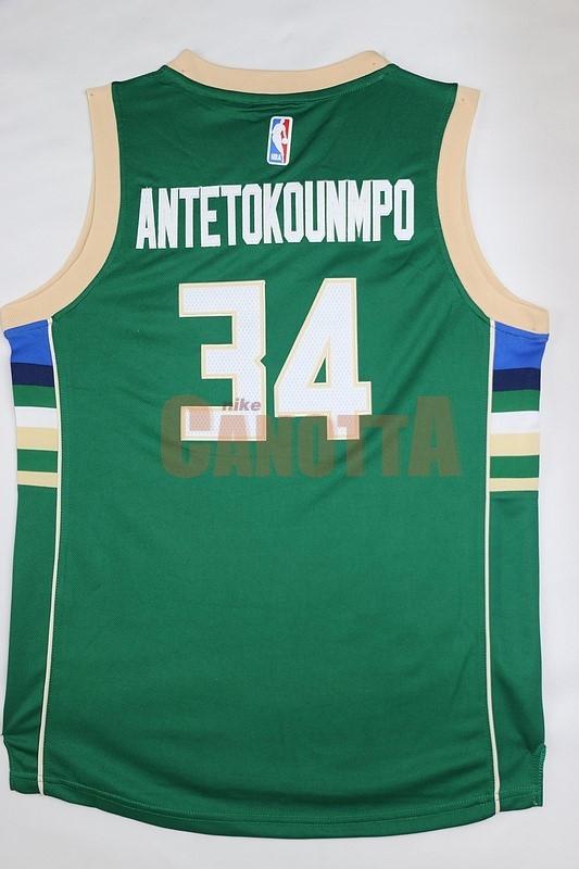 ... Replica Maglia NBA Bambino Milwaukee Bucks NO.34 Giannis Antetokounmpo  Verde ... cfb5654ebcef