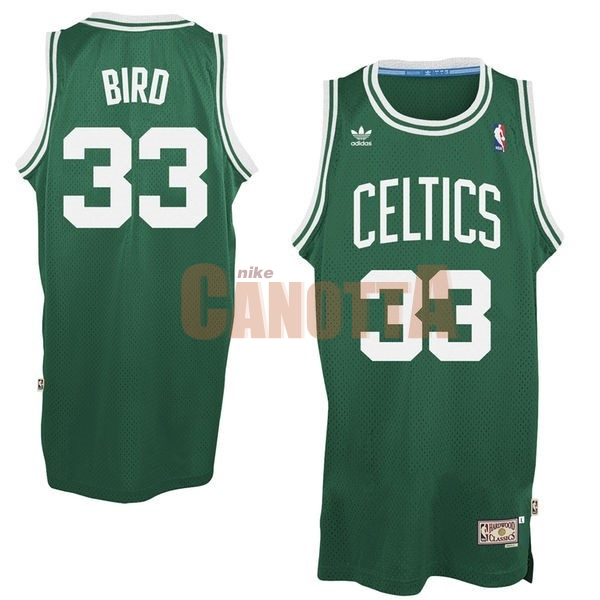 Replica Maglia NBA Boston Celtics No.33 Larry Joe Bird Verde