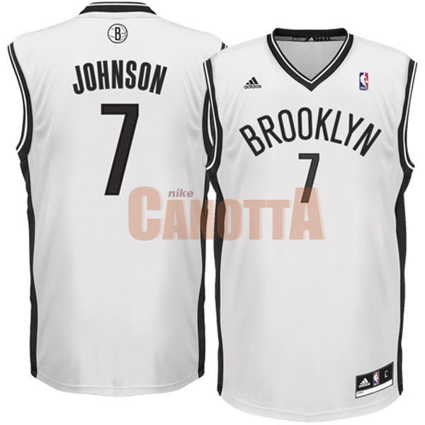 Replica Maglia NBA Brooklyn Nets No.7 Earvin Johnson Bianco