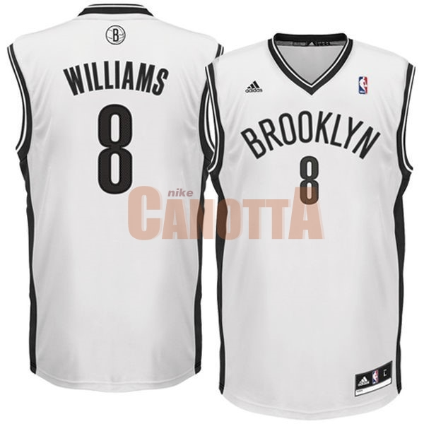 Replica Maglia NBA Brooklyn Nets No.8 Deron Michael Williams Bianco