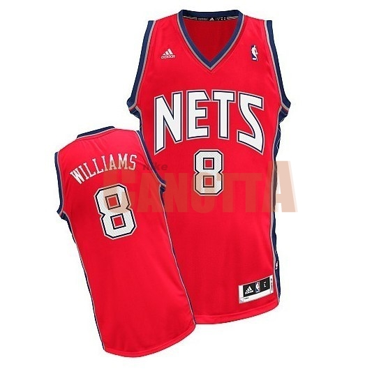 Replica Maglia NBA Brooklyn Nets No.8 Deron Michael Williams Rosso