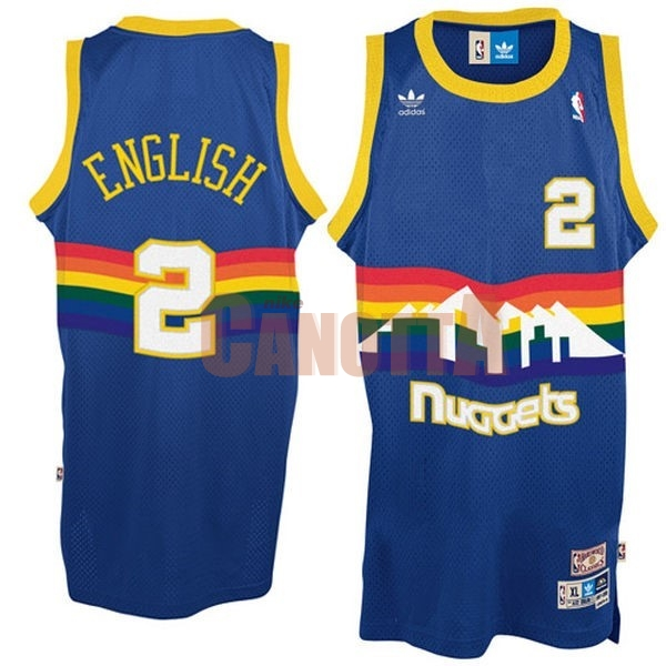 Replica Maglia NBA Denver Nuggets NO.2 Alex English Blu