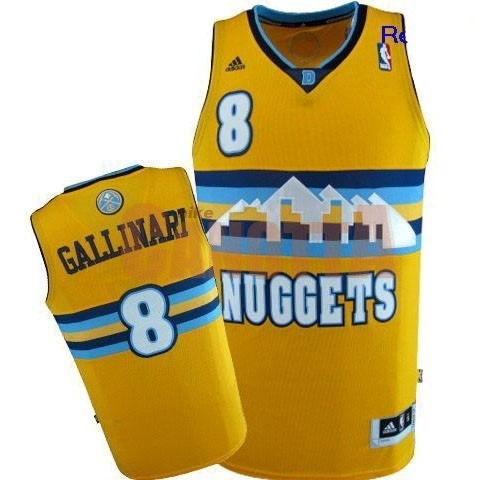 Replica Maglia NBA Denver Nuggets NO.8 Danilo Gallinari Giallo