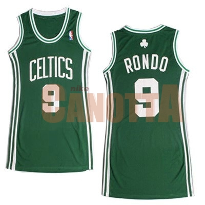 Replica Maglia NBA Donna Boston Celtics NO.9 Rajon Rondo Verde