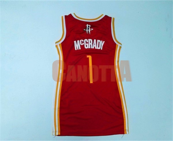 Replica Maglia NBA Donna Houston Rockets NO.1 Tracy McGrady Rosso
