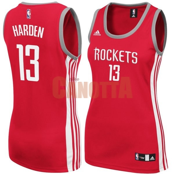 Replica Maglia NBA Donna Houston Rockets NO.13 James Harden Rosso