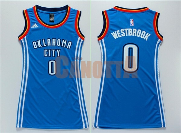 Replica Maglia NBA Donna Oklahoma City Thunder NO.0 Russell Westbrook Blu