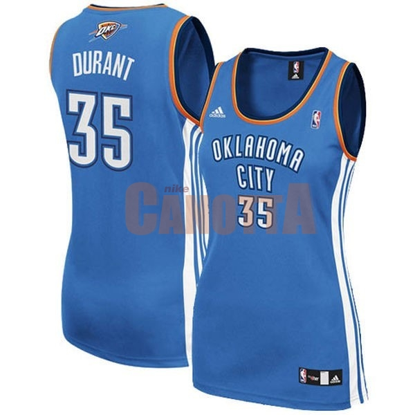 Replica Maglia NBA Donna Oklahoma City Thunder NO.35 Kevin Durant Blu