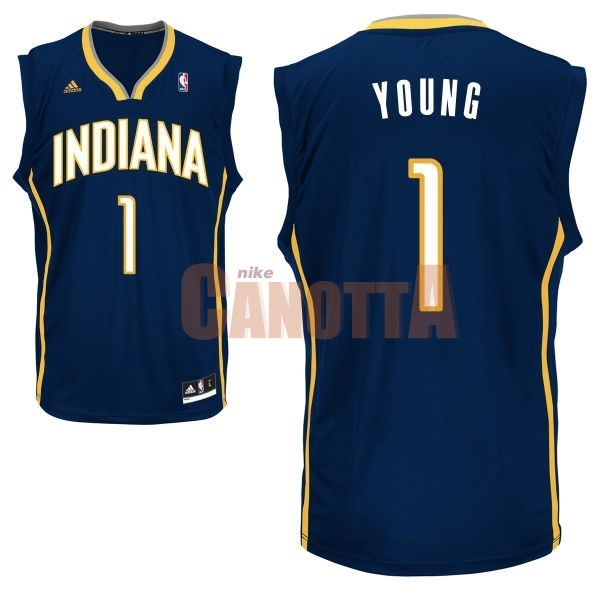 Replica Maglia NBA Indiana Pacers NO.1 Lance Stephenson Nero