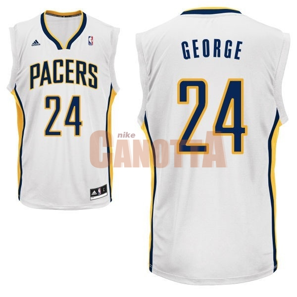 Replica Maglia NBA Indiana Pacers NO.24 Paul George Bianco