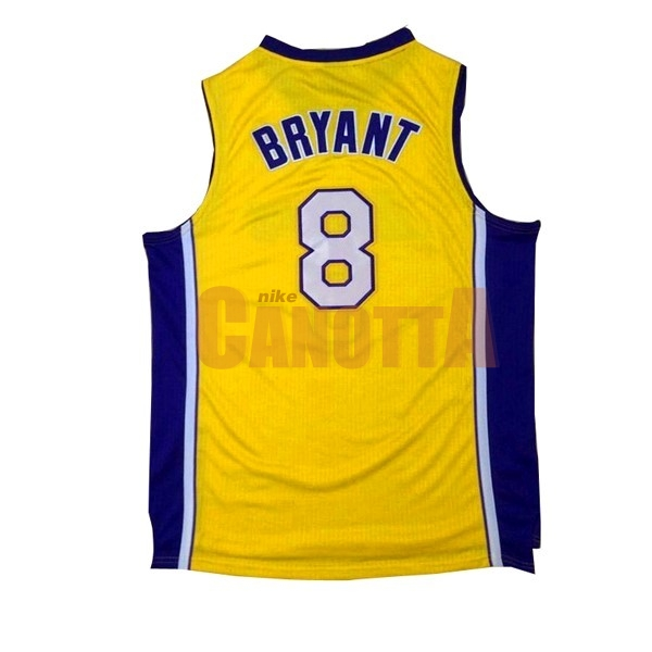 Replica Maglia NBA Los Angeles Lakers NO.8 Kobe Bryant Giallo Porpora