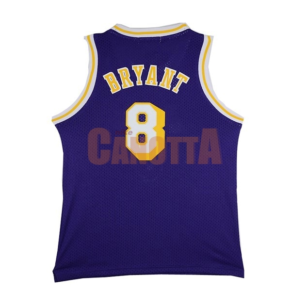 Replica Maglia NBA Los Angeles Lakers NO.8 Kobe Bryant Porpora