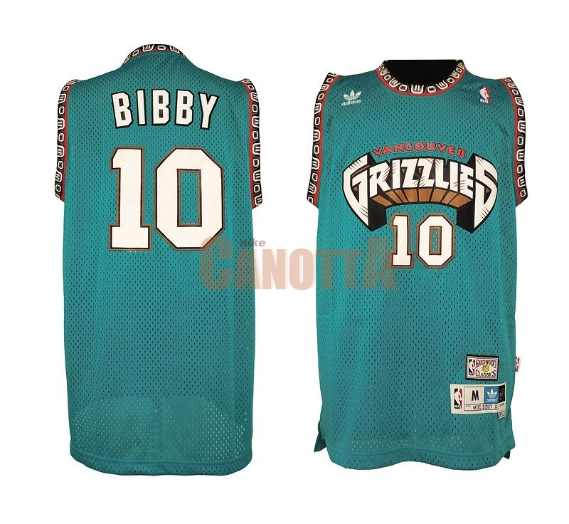 Replica Maglia NBA Memphis Grizzlies NO.10 Mike Bibby Verde