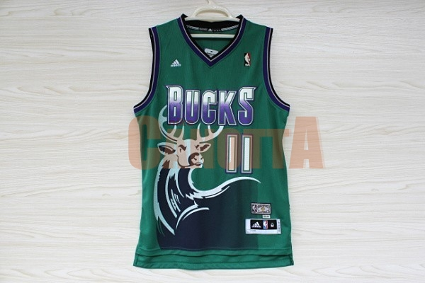 Replica Maglia NBA Milwaukee Bucks NO.11 Monta Ellis Verde