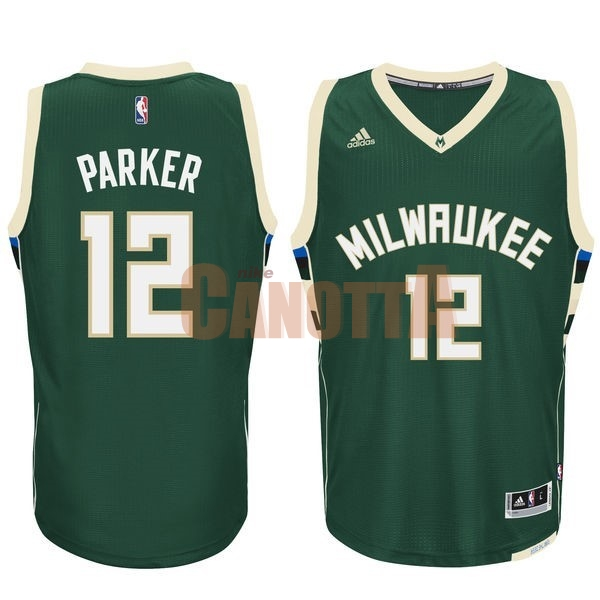 Replica Maglia NBA Milwaukee Bucks NO.12 Jabari Parker Verde