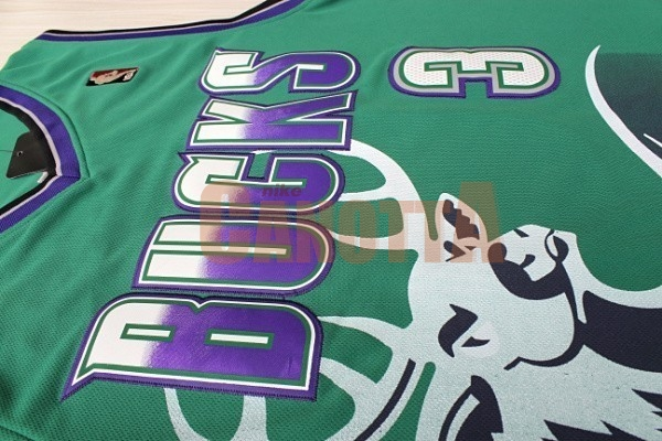 Replica Maglia NBA Milwaukee Bucks NO.3 Brandon Jennings Verde