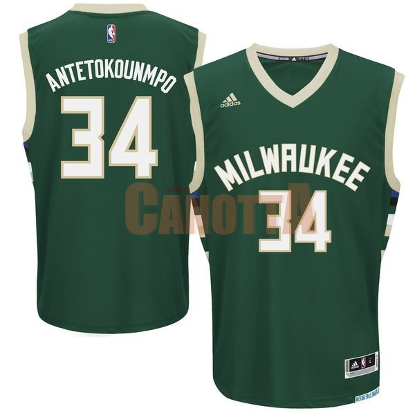 Replica Maglia NBA Milwaukee Bucks NO.34 Giannis Antetokounmpo Verde