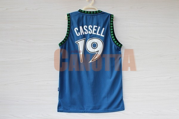 Replica Maglia NBA Minnesota Timberwolves NO.19 Sam Cassell Retro Blu