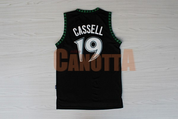 Replica Maglia NBA Minnesota Timberwolves NO.19 Sam Cassell Retro Nero