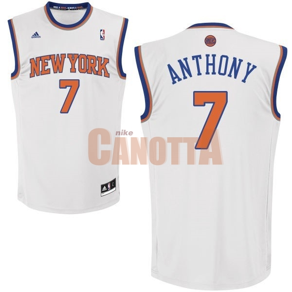 Replica Maglia NBA New York Knicks NO.7 Carmelo Anthony Bianco