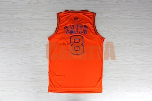 Replica Maglia NBA New York Knicks NO.8 JR.Smith Arancia