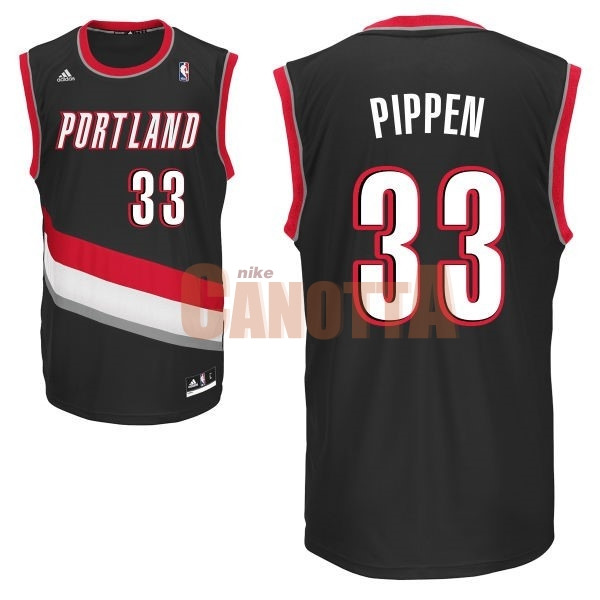 Replica Maglia NBA Portland Trail Blazers NO.33 Scottie Pippen Nero