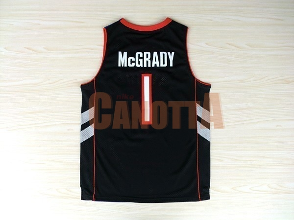 Replica Maglia NBA Toronto Raptors NO.1 Tracy McGrady Nero