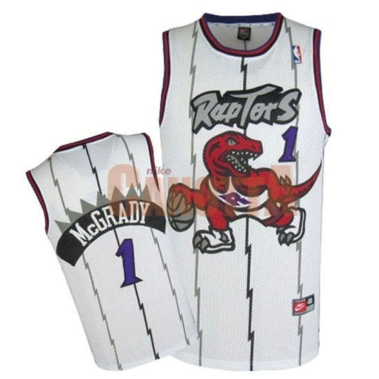 Replica Maglia NBA Toronto Raptors NO.1 Tracy McGrady Retro Blu