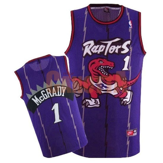 Replica Maglia NBA Toronto Raptors NO.1 Tracy McGrady Retro Porpora