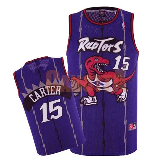 Replica Maglia NBA Toronto Raptors NO.15 Vince Carter Retro Porpora